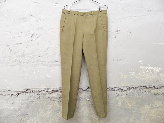1970s pants mens / vintage pants virgin wool / pan