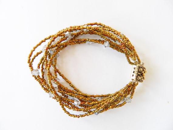 Boheme bracelet beads/70s bracelet hippie/vintage bracelet/pearl bracelet 70s/vinatge jewelry