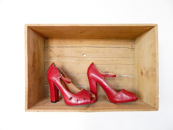 Vintage pumps leather / 80s pumps / vintage shoes