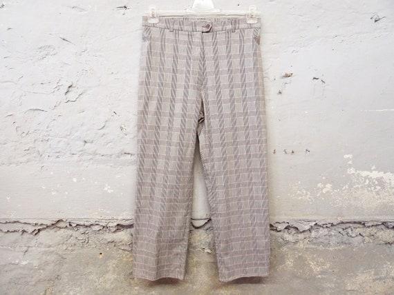 1980s pants plaid / plaid pants / women's pants e… - image 1