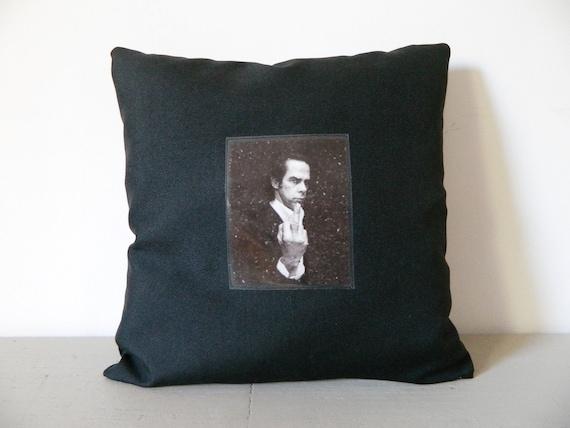 Pillow Nick Cave/independent Pillow/fan Pillow Nick/cave pillow/pillow Black