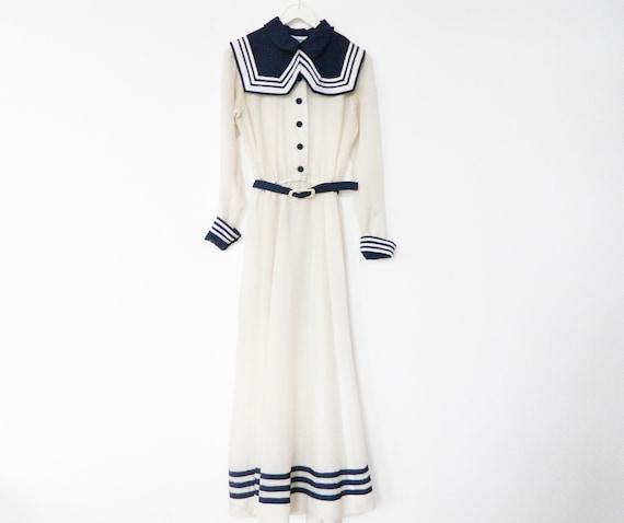 Antique dress/sailor dress/vintage dress 30s 40s/dress sailor