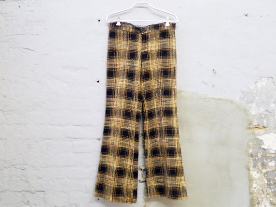 80s pants wool/vintage pants plaid/wool pants/batting pants/pants with punch 80s