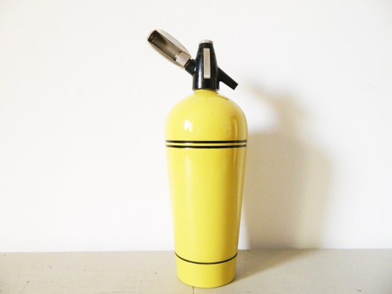 Big 50s siphon/50s Soda dispenser yellow/vintage Syphon/50s bar/bar/mid century
