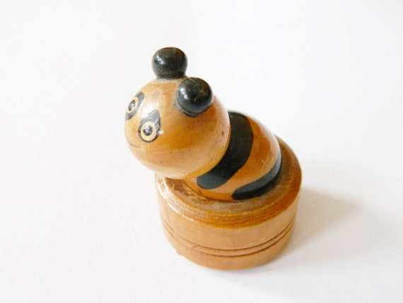 Wood Worm/Sixties spitzer wooden/worm figure/figure