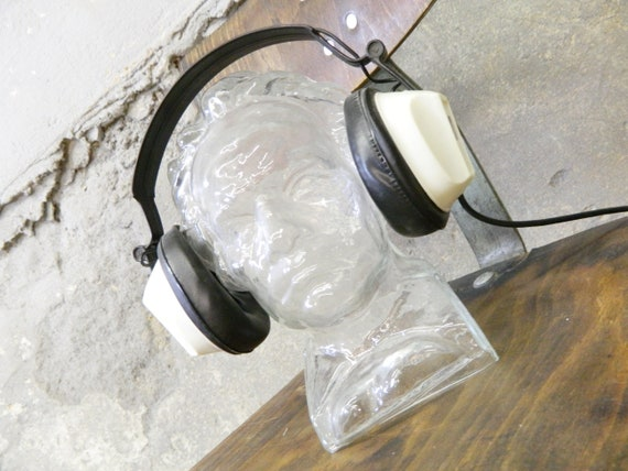 Glass head/Head Beethoven/Headphone stand/Decoration Head/head of Glass 70s/Sculpture
