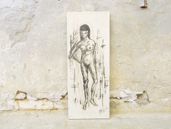 Painting on canvas/50s picture/picture woman/nude art/art