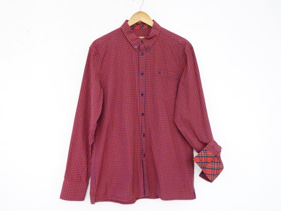 Vintage shirt/men's shirt merc/shirt karo/upper shirt plaid/vintage men's shirt Merc