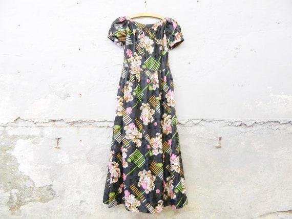 Long dress/vinatge floral dress/197kah dress/hippie/maxi dress
