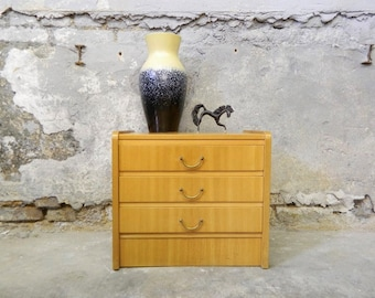 60s chest of drawers / vintage cabinet / small chest of drawers / drawer cabinet / nightstand
