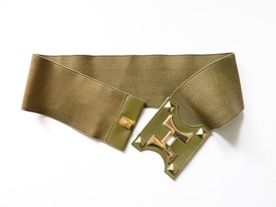Stretch Belt/80s belt/Vintage belt/1980 's Stretch belt/belt green/vintage Belt