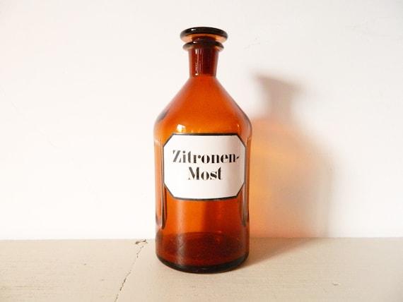 Large pharmacist bottle/lemon juice bottle/pharmacist Bottle/XL bottle/Glass Bottle