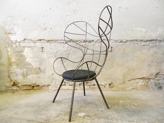 Iron Armchair/Vintage armchair/60s armchair Iron/1960 's chair/vintage chair/Metal Armchair