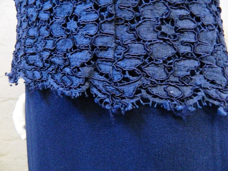60s Dress Blue woolBlue Etuidressvintage Dress BlueEvening Dress