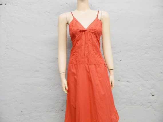 197kian Dress long/vintage Dress/red Maxi Dress/Boho Dress Volant/summer Dress