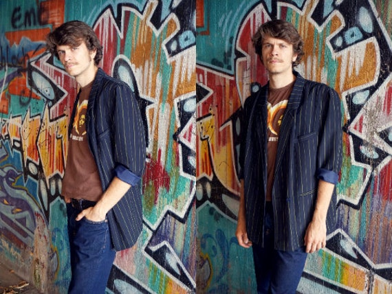 70s jacket / men's jacket vintage / 70s jacket / 70s men jacket / streetstyle 70s / vintage stripe jacket