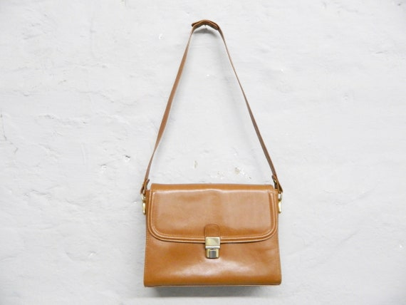 70s handbag/Leather Bag brown/vintage bag/shoulder bag brown/1970s Bag/vintage bag