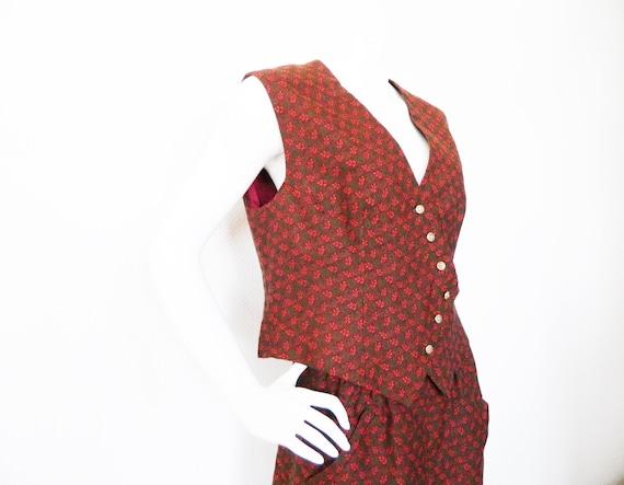 60s costume costume / 60s skirt and vest / vintage costume / vintage vest skirt edelweiss / costume skirt / dirndl /
