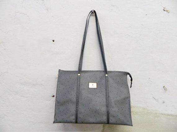 80s Bag Playboy/vintage Shopper/Cult Playboy Shopper vintage 80s/Handbag Grey Black/Blogger Bag
