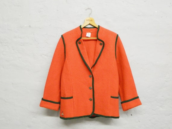 50s jacket wool/jacket red/original costume jacket ore mountain/1950s costume jacket