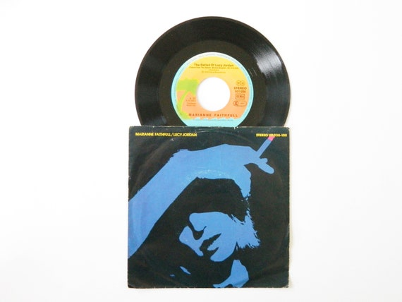 Marianne Faithfull Vinyl 1979/Lucy Jordan 45 rpm/vinyl record