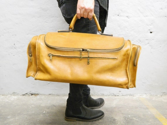 Grand 70s leather bag/weekender/travel bag leather/vintage leather bag 1970s