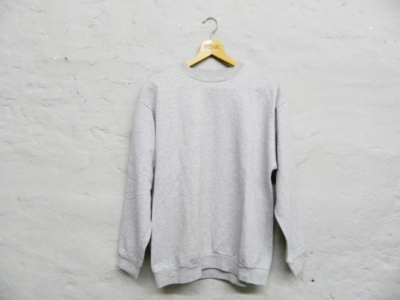 Men's Pulli/vintage sweater men/80s sweater/sweatshirt grey