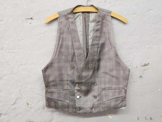 30s vest / men's vest antique / glossy vest grey /