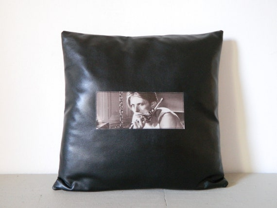 Bowie pillow, Independent Pillow/pillow Bowie/vintage/fan Pillow/pillow Black