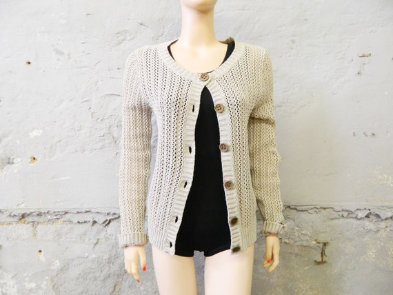 80s cardigan, vintage jacket, cardigan beige/80s jacket natural