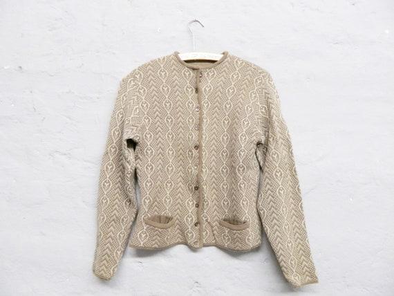 50s cardigan/vintage cardigan/50s sweater/vintage jacket wool brown