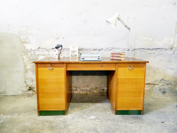 art deco office table / desk / 30s/40s table / work table