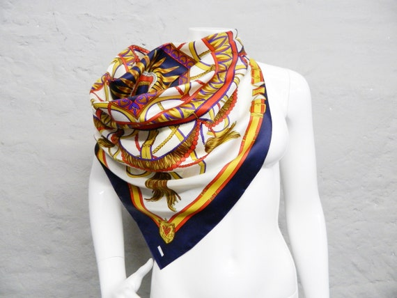 Large cloth/neckerchief/70s scarf colorful/vintage scarf belt/cloth/1970s scarf