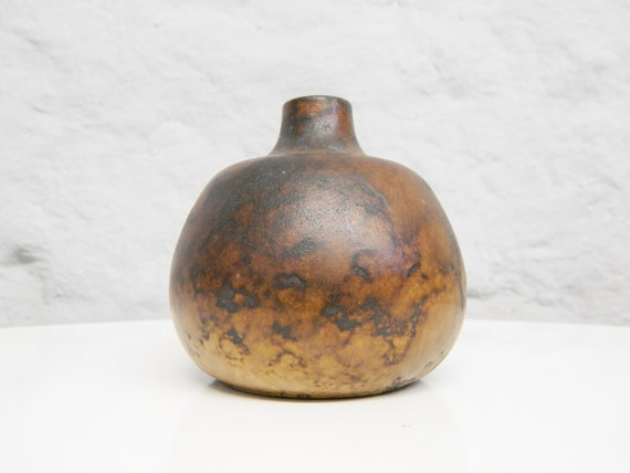 1960s Ceramic Vase/Vintage Vase/Ceramic/Decoration/60s Home Accessories/ball Vase