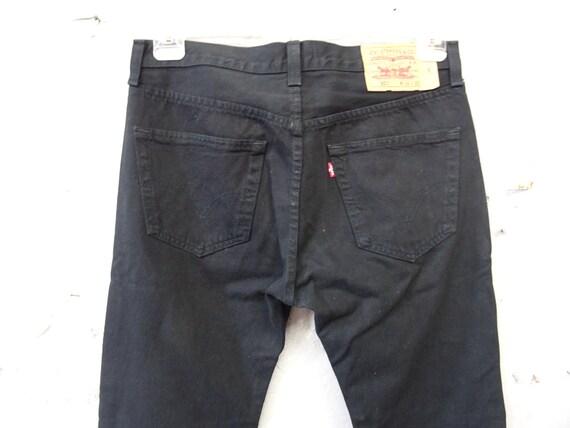 Men's Jeans Levis 501 straight leg black W34 L30 /