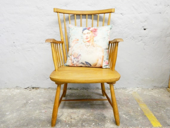 50s chair/armrests chair/chair Scandinavia/sprout chair/1950s chair wood/old wooden chair