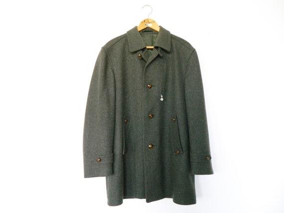 Wears/80s men's coat/vintage coat/vintage coat men/Loden coat Green/Coat Green/1980 's coat