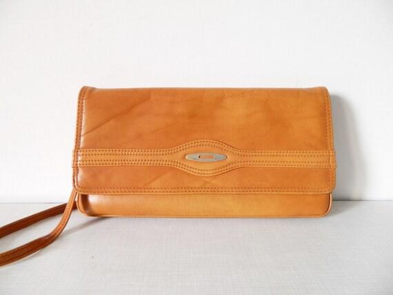 70s leather bag/vintage bag/70s handbag/bag brown leather
