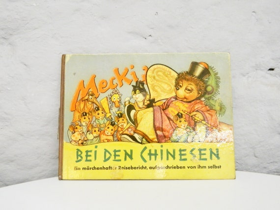 Mecki Book/50s Children's Book/50s picture book/vintage Book Mecki/mid Century books