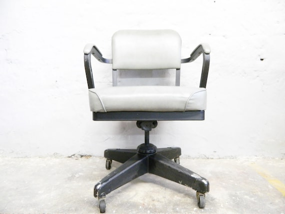 Rare authentic Emeco Corp Chair 1961/Industrial Chair/Rolling Desk Chair/60s Chair Industry/Office Chair 60s