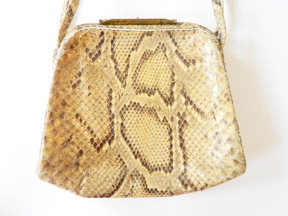 Antique handbag leather / art deco bag / 30s bag / vintage bag leather / antique bag / vintage handbag leather / leather bag