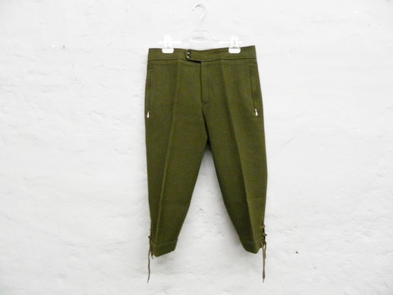 Vintage Men's Pants/Knickerbocker Austria Men/Coe Pants/Pants Green Man/Men's Pants Chancellor