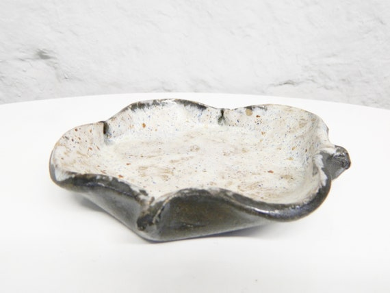 """Brown Bowl/Ceramic Bowl/Deco Grey Brown/Ceramic Jewelry Bowl/Jewelry Deposition"