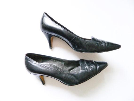 Leather pumps ARA/vintage pumps, vintage shoes/70s shoes/leather Shoes/1970 's Pumps ARA Germany