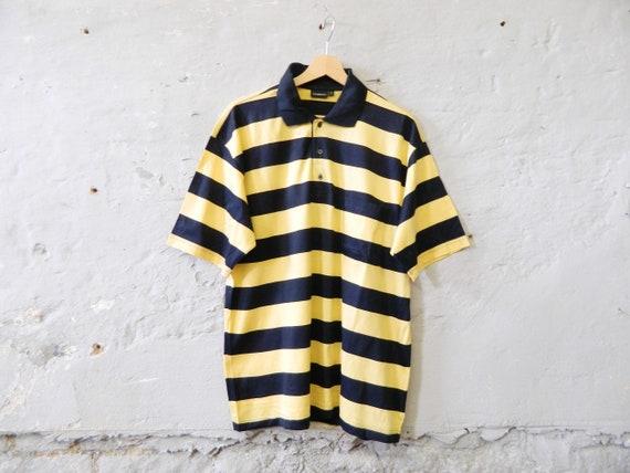 Vintage Shirt Men/polo shirt/polo shirt/90s shirt striped