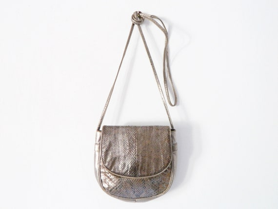 70s Evening Bag/vintage bag Metallic/disco bag/1970 's Bag/shoulder bag