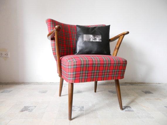Punk rock cocktail armchair/50s armchair/armchair checker/1950s armchair/50s chair/mid century