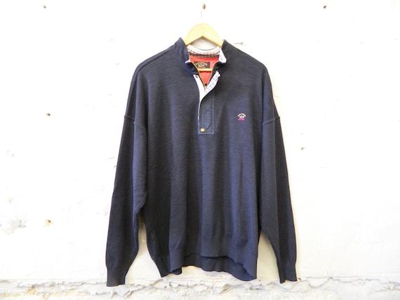 Men's Sweater / vintage sweater men / blue sweater / sweater Paul & Shark 90s