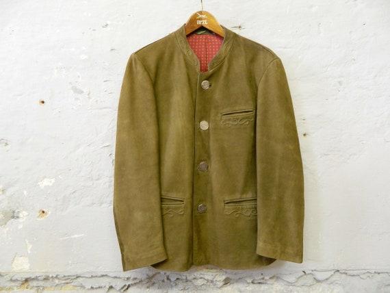 70s traditional leather jacket / vintage leather j