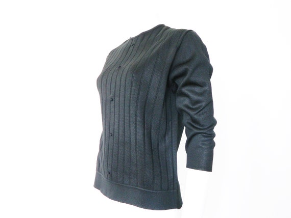 50s sweater black / vintage sweater / 1950s sweater / vintage jumper / sweater black / 50s sweater